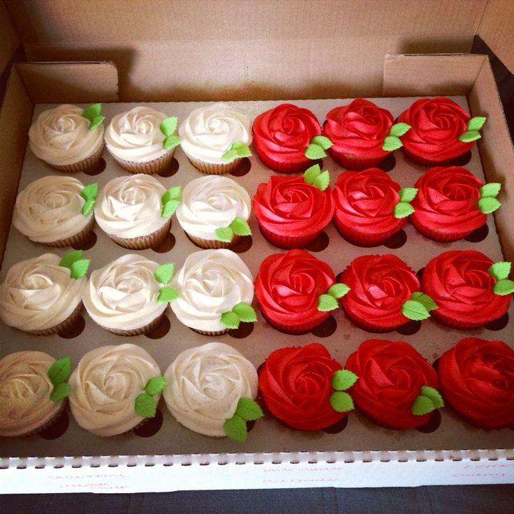 Matching Engagement Cupcakes