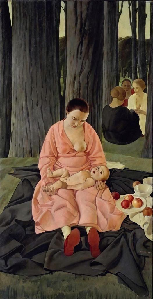 Ritratto di Hena Rogotti, c.1924 by Felice Casorati (Italian 1883-1963)