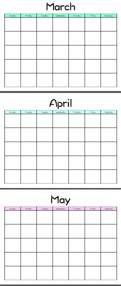 25 unique printable blank calendar ideas on pinterest free blank calendar blank monthly. Black Bedroom Furniture Sets. Home Design Ideas
