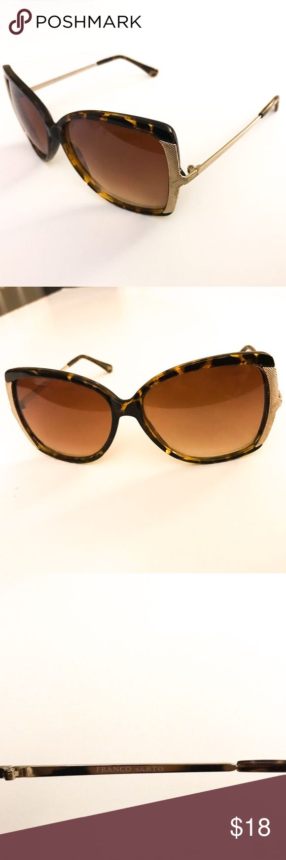 Franco Sarto Sunglasses Here are the details for these Franco Sarto Sunglasses : color brown tortoise, gold sides, very good condition, only worn a few times, Original price $30. Case not available. Bundle deal: buy 2 or more items from my closet & save 15% Franco Sarto Accessories Sunglasses