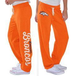 Women's G-III 4Her by Carl Banks Orange Denver Broncos Scrimmage Fleece Pants