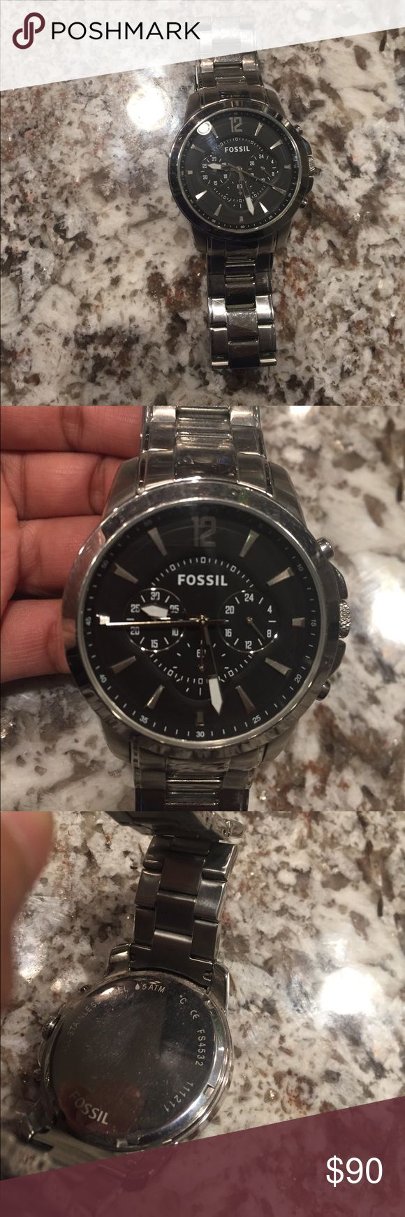 Men's Fossil Watch Stainless steel Fossil Accessories Watches