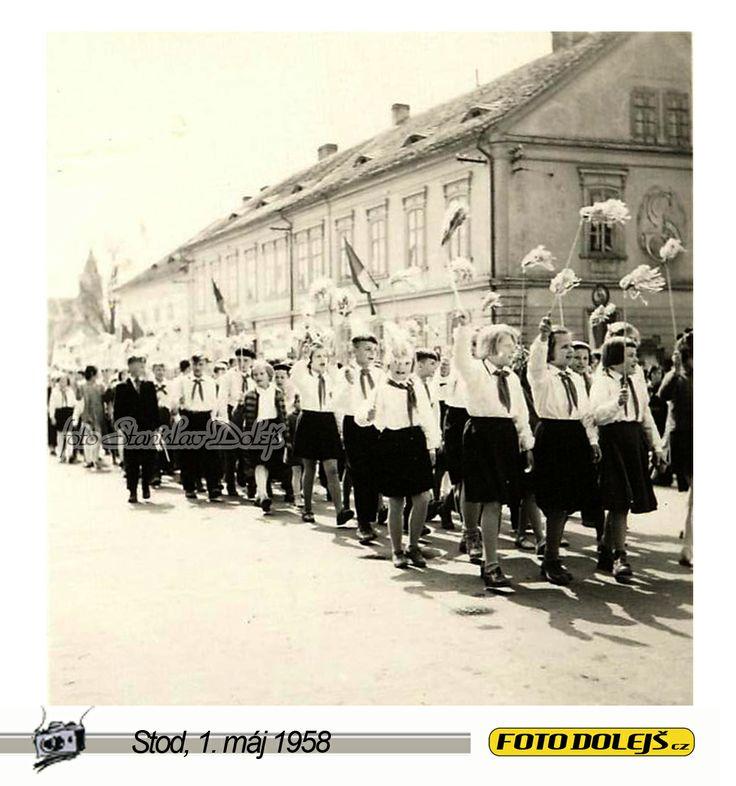 Stod, 1. máj 1958. Foto Stanislav Dolejš.