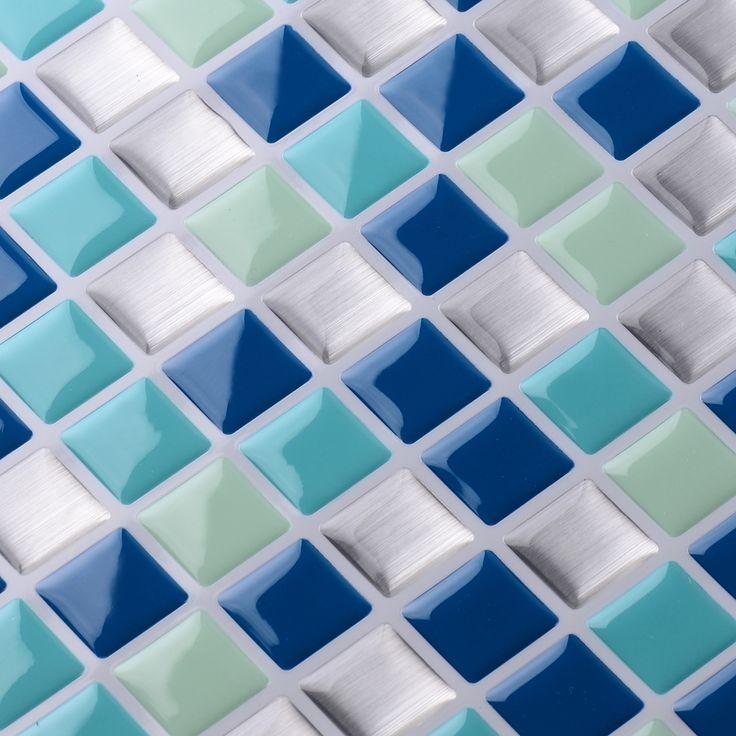 Decorative Tile Stickers Bathroom 10 Best Peel & Stick Mosaic Tile Sticker Images On Pinterest