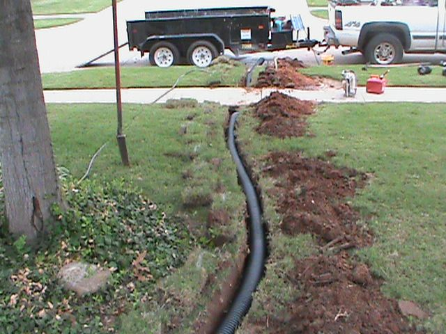 Installing A French Drain French Drain Yard Drainage