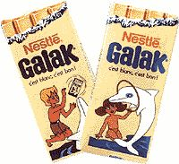 Galak white chocolate - wasn't a huge fan, but I definitely remember the ads.