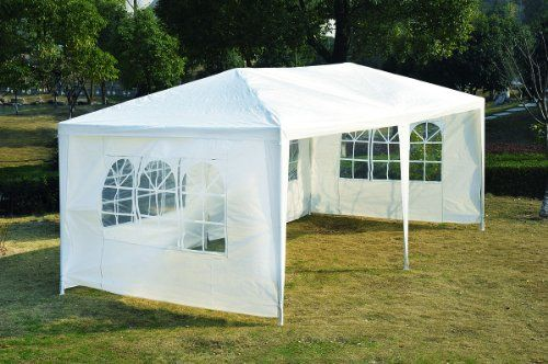 Outsunny 10 x 20 ft Wedding Party Tent Camping Gazebo Canopy w/ 4 Removable Sidewalls White Outsunny http://www.amazon.ca/dp/B00BYP7RUQ/ref=cm_sw_r_pi_dp_dXZGvb0AETJQ2