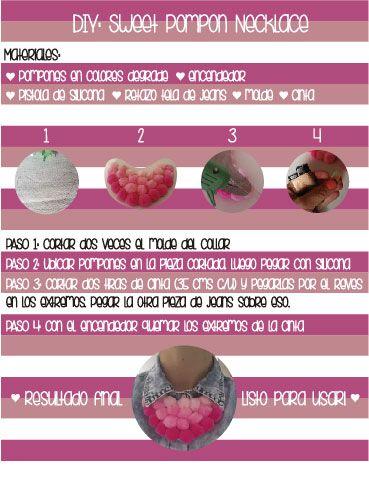 DIY Pompon necklace Step by step!