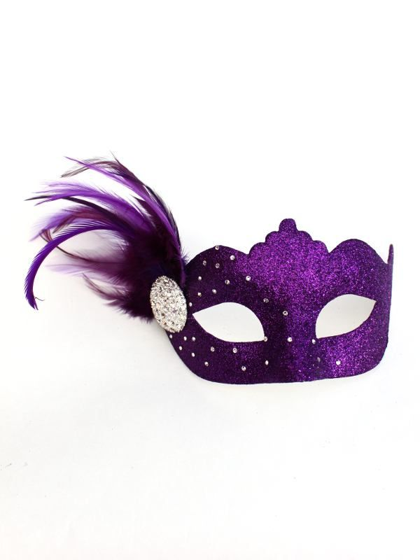 Purple Masquerade Masks Samara Purple Swarovski Crystal Venetian