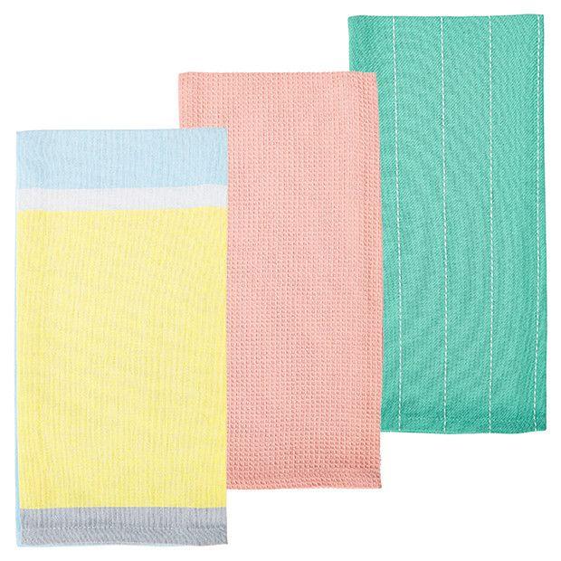 Soft Floral Pack of 3 Tea Towels | Target Australia