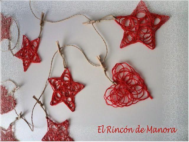 El rincón de Manora: DIY Adornos de navidad hechos con lana