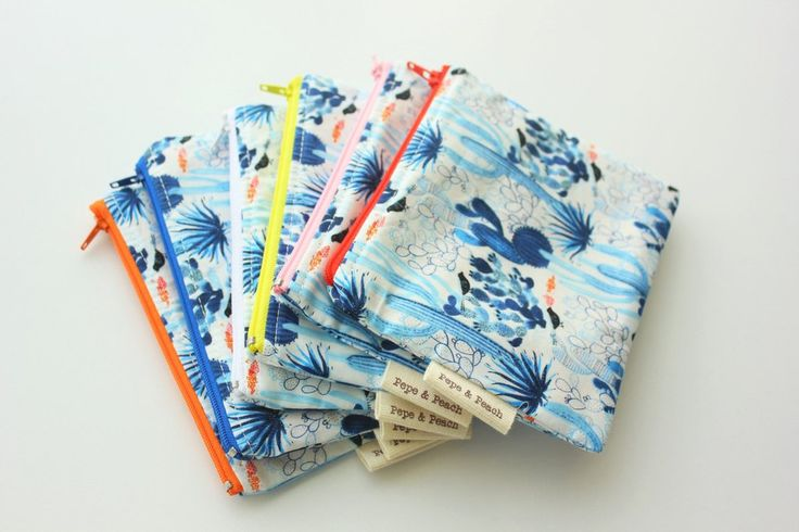 Zipper Pouch ~ Zippered Pouch ~ Coin Purse ~ Pencil Case ~ Cosmetic Bag ~ Makeup Bag ~ Bridesmaid Gift ~ 6 Colors to Choose ~ Handmade