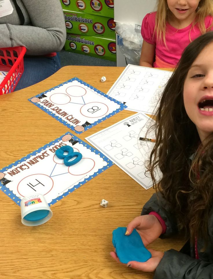 Play Dough Math Mats - Missing Addend + More.  Perfect for centers or afternoon math tubs!