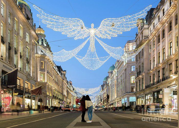 Christmas Lights In Regent Street London Greeting Card For Sale By Tim Grist In 2020 London Poster London Artist London Pictures