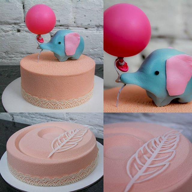 Первый день рождения.. Столько нежности для доченьки @katya.choo #торт…