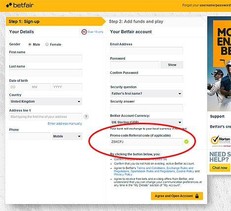 How To Claim Your Betfair Casino Promotion Code