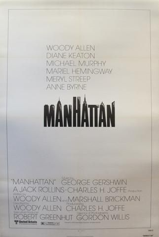 1979 American Woody Allen  Movie Poster, Manhatten - Unknown