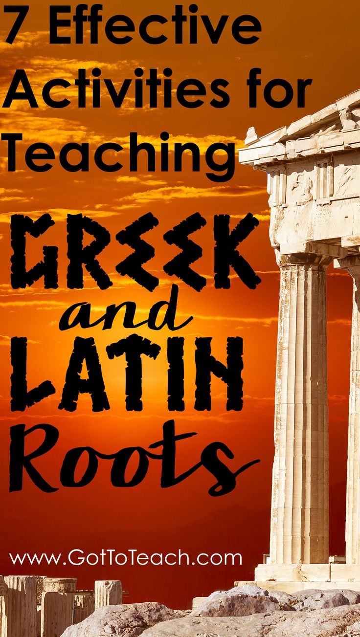 Fun, easy, and engaging activities for teaching Greek and Latin roots. Free printable included!