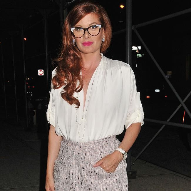 Celebrity Gossip and Entertainment News - Debra Messing dresses as secretary