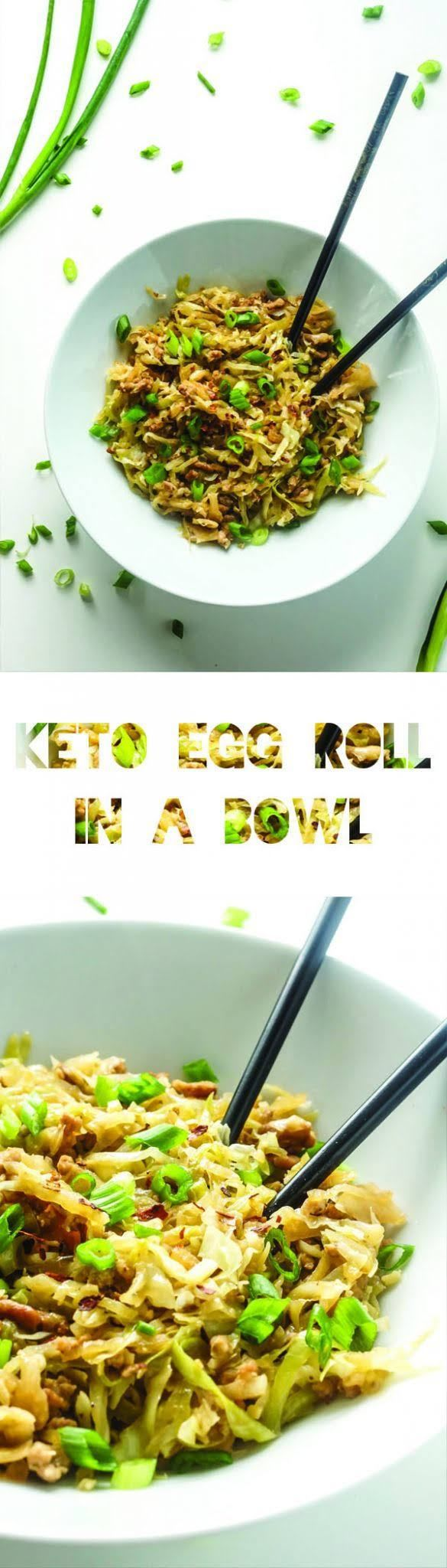 Keto Egg Roll in a Bowl Recipe | Cabbage | Low Carb Vegetable | Atkins | LCHF