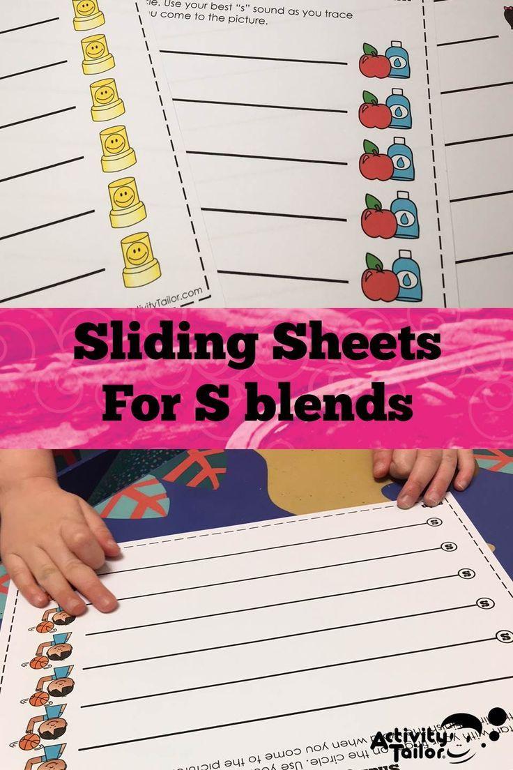 S Blend Sliding Worksheets For Articulationphonological Processes