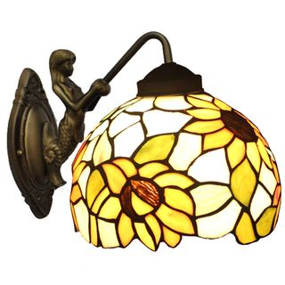 Amora Lighting Tiffany Style Sunflower Wall Lamp