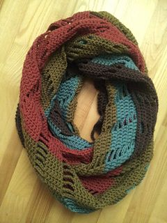 This comfy scarf is very easy to crochet and takes around 7-8 hours in total