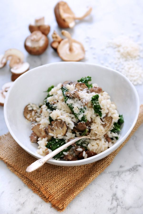 A Northern Italian classic, this risotto recipe features zesty Italian sausage, earthy mushrooms and the famously bitter green, kale. Cozy up with a hearty bowl and beat the winter freeze.