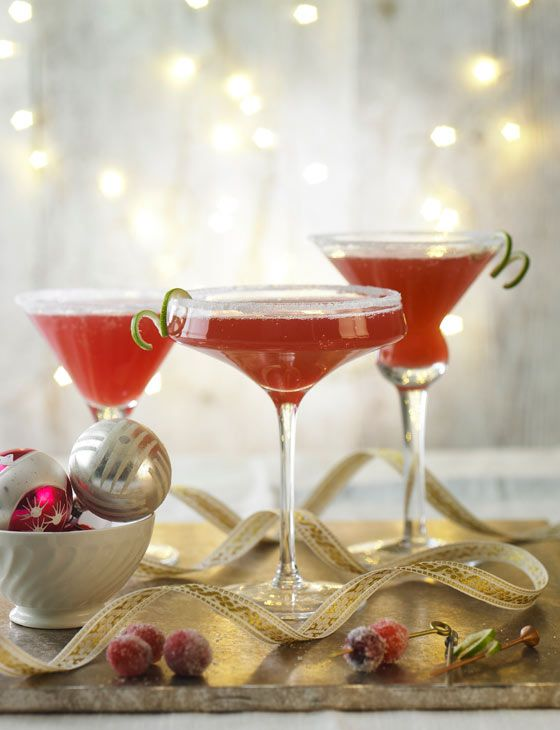 Spiced cranberry Martinis .... Oh yeah! From Sainsburys recipes.
