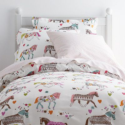 Soft percale kids sheets & bedding set designed in a