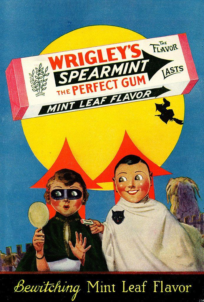 Vintage Halloween Advertising Wrigley spearmint gum