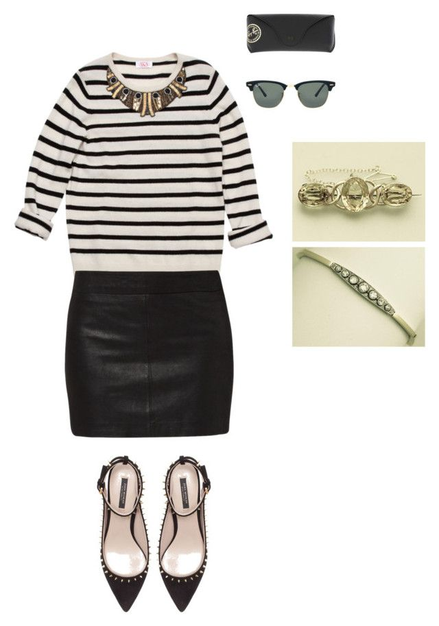 """Thursday Outfit Inspiration"" by ac-silver ❤ liked on Polyvore featuring AKA New York, Ray-Ban, Zara and Ganni"