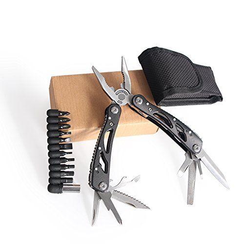 24-in-1 Multitool Pliers Multifunctional Portable Electrical Tool Outdoor Camping Survival Knife Stainless Steel Multi Tools / Folding Pocket Size Non-slip Pincers with Nylon Sheath. For product info go to:  https://all4hiking.com/products/24-in-1-multitool-pliers-multifunctional-portable-electrical-tool-outdoor-camping-survival-knife-stainless-steel-multi-tools-folding-pocket-size-non-slip-pincers-with-nylon-sheath/