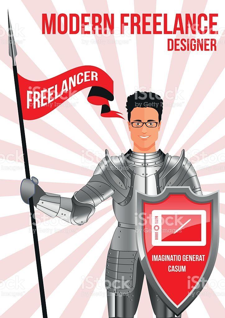 Designer freelancer design concept royalty-free stock vector art