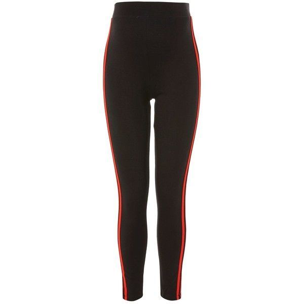 Topshop Maternity Red Striped Ponte Leggings ($28) ❤ liked on Polyvore featuring maternity and black