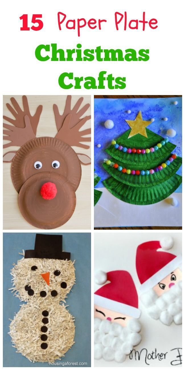 414 best crafts for kids images on pinterest crafts for for Christmas crafts made out of paper plates