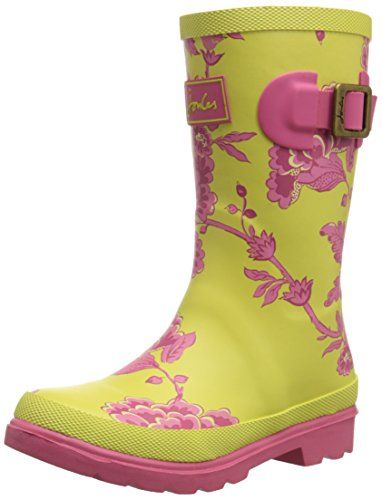 Joules  Printed Welly,  Mädchen Stiefel , Gelb - Yellow (Neon Lime Pony) - Größe: 42 2/3 EU - http://on-line-kaufen.de/joules/42-2-3-eu-joules-printed-welly-maedchen-stiefel
