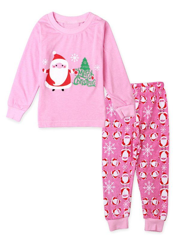 Santa Claus Print Girls Christmas Pajamas #men, #hats, #watches, #belts, #fashion, #style