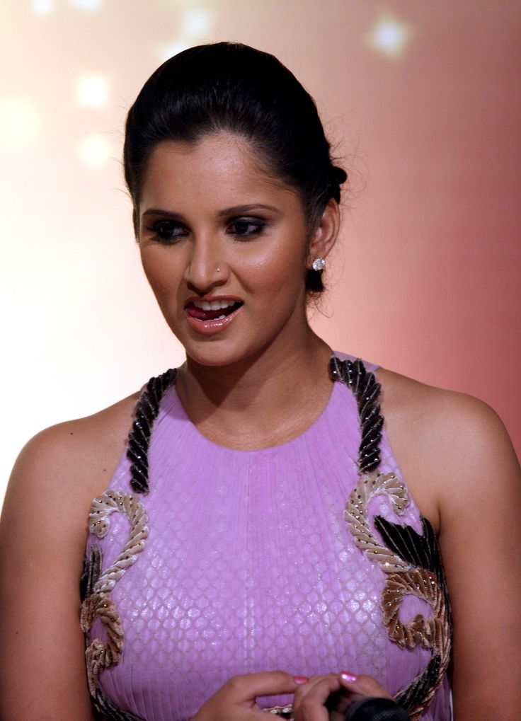 The lovely Sania Mirza from India - Sania is one of the most beautiful women in all of sports, not to mention her success on the tennis courts.