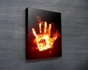 FIRE HAND ABSTRACT ART $26.00–$741.00 Fire Hand – Abstract and Contemporary Art Canvas Prints #popart  #retirementgifts