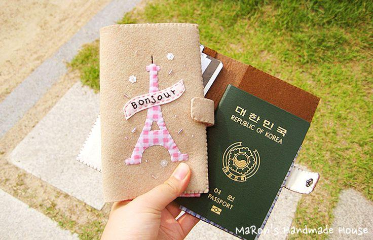 passport case,cover,felt,DIY www.maronhouse.co.kr