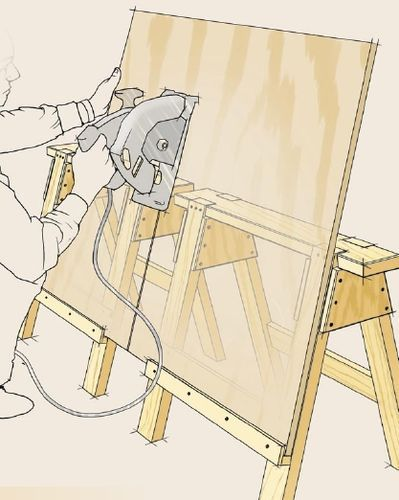Hines Farm Blog: DIY Track Saw and Other Ideas for Cutting Up Sheet Goods
