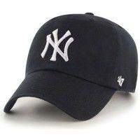 Casquettes 47 brand Casquette  New York Yankees Vintage Clean Up Noir