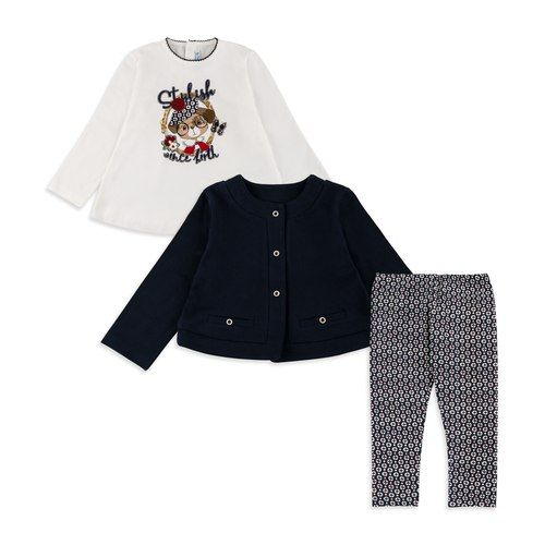 63284e1d1607 Baby Girls Three Piece Outfit Set - Navy by Mayoral