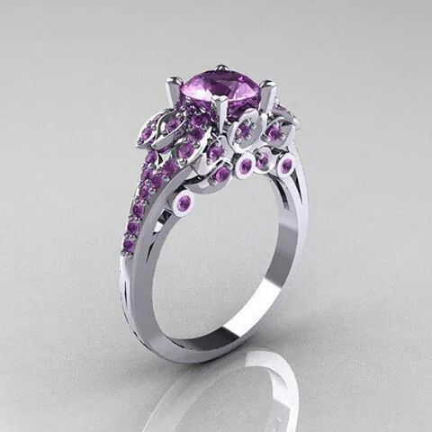 purple wedding rings 2 - Purple Wedding Ring