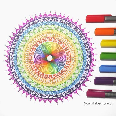 Posted a video on youtube on how I made this mandala 🌸✌🏻️🌈link in bio
