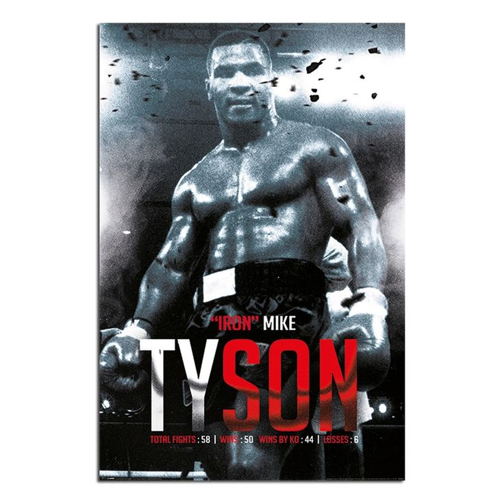 Iron Mike Tyson Boxing Record Poster | iPosters