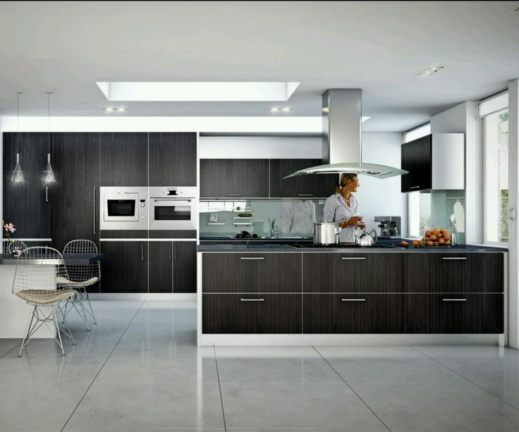 Lovely Modern Home With Ultra Modern Black Kitchen Cabinets Designs Ideas