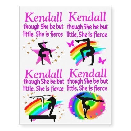 LITTLE BUT FIERCE PERSONALIZED GYMNASTICS TATTOOS - diy cyo customize create your own #personalize