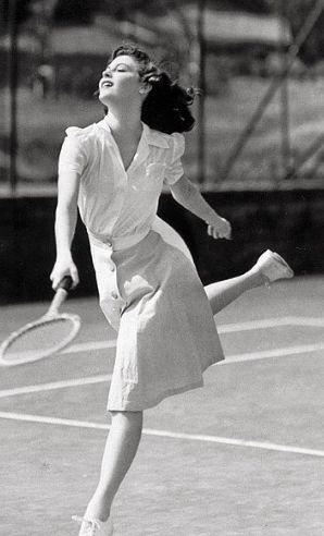 Ava Gardner 1941. Glamour tennis.